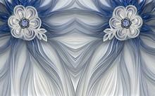 3d Mural Wallpaper Decoration Abstract Fractal Fantastic Flower Background