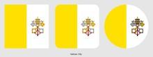 Vatican City Flag, Vector Illustration