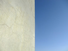 Blue Sky And Wall