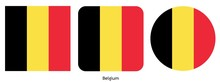 Belgium Flag, Vector Illustration