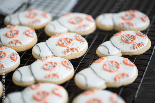 BB-8 Royal Frosted Sugar Cookies Canvas Print