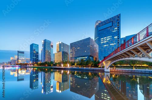 Ninbo City, China, night view - 278862466