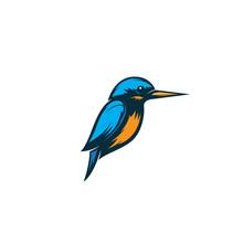 Kingfisher Bird Logo Illustrat...