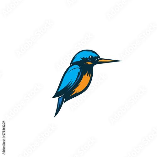 Valokuvatapetti kingfisher bird logo illustration