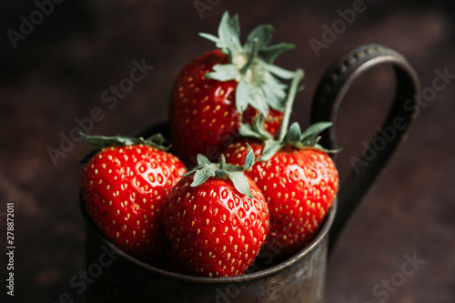 Ripe and juicy strawberries...