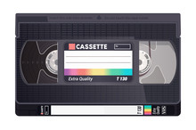 Isolated Vintage VHS Tape. Vec...
