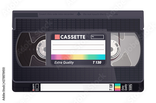 Isolated vintage VHS tape Canvas-taulu