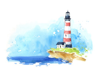 Watercolour sketch of a lig...
