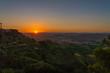 Wonderful Sunset over the Sicilian Hills, Mazzarino, Caltanissetta, Sicily, Italy, Europe