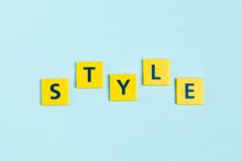 Style Word On Scrabble Tiles