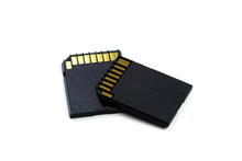 SD Memory Card Isolated On Whi...