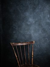 Chair On A Blue Dark Backgroun...