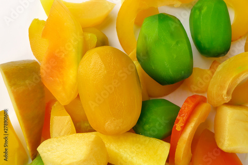 Photo  Pickled preserved fruit sweet crunchy