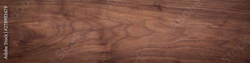 Poster Bois Walnut wood texture. Super long walnut planks texture background.Texture element