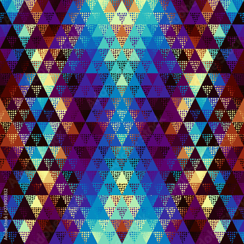 Foto auf Leinwand Künstlich Seamless vector pattern background of a triangles.