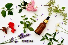 Aromatic Oil In A Bottle With ...
