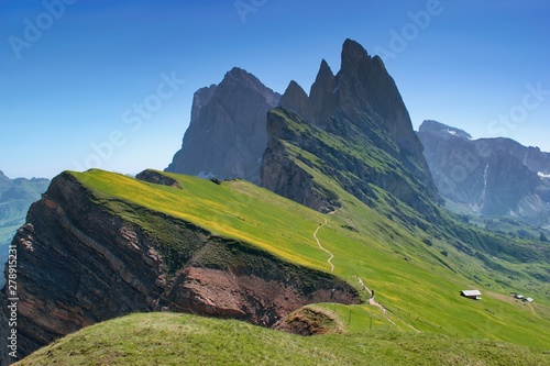 Majestic mountain scenery - Seceda, Dolomites, Italy Fototapet