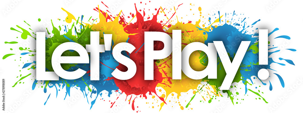 Fototapety, obrazy: Let's play in splash's background