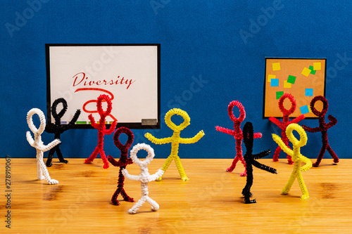 American Business Culture Has attempted to embrace diversity, but has the social Canvas Print