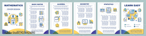 Photo Mathematics lessons brochure template layout
