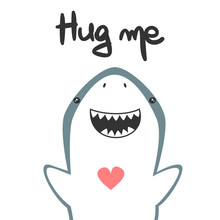 Cute Hand Drawn Lettering Hug ...
