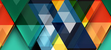 Abstract Triangle Pattern, Col...