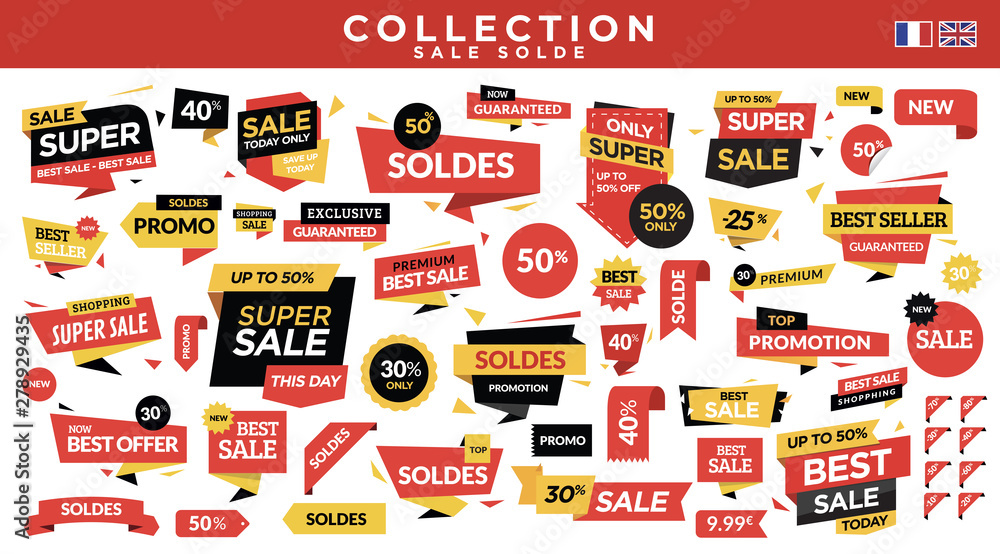 Fototapety, obrazy: Sale labels collection