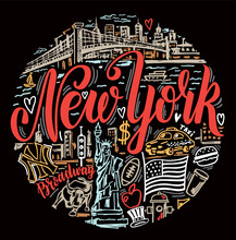 Vector Set Of New York City.  ...