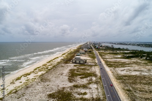 Perdido Key Beach after Hurricane Barry Canvas Print