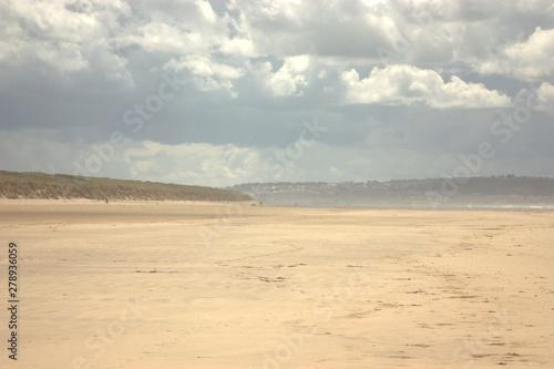 Poster de jardin Desert de sable beach and sea