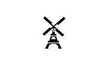 Landmark, Netherland, Structure, Tourist, Windmill Icon