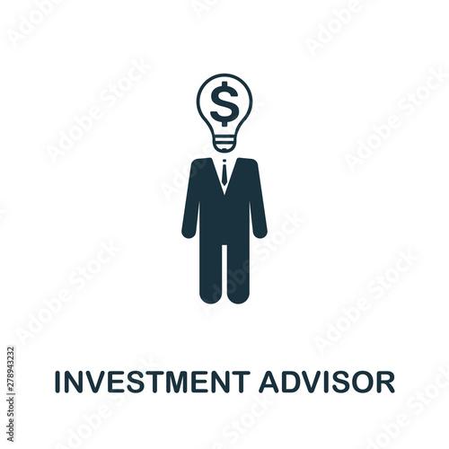 Photo Investment Advisor vector icon symbol