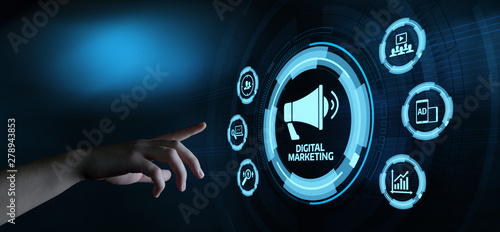 Fotomural  Digital Marketing Content Planning Advertising Strategy concept