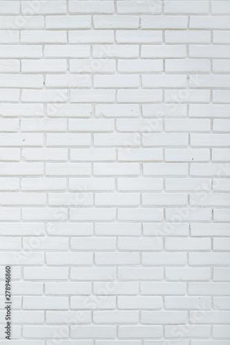 Foto op Canvas Baksteen muur White brick wall background