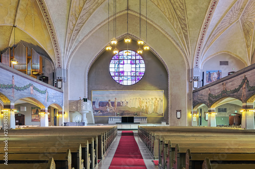 Fotografie, Obraz  Interior of Tampere Cathedral, Finland