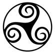 canvas print picture - Triskelion symbol icon