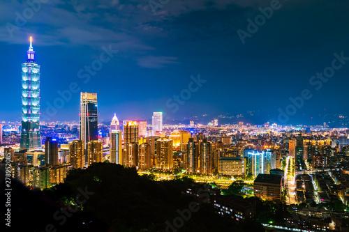 фотография  Taipei city at night, Taiwan