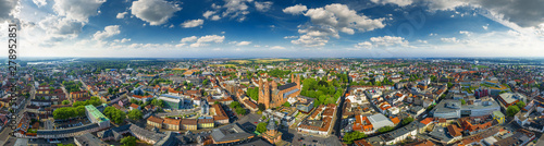 Foto auf AluDibond Amsterdam 360° aerial sky panorama of worms germany