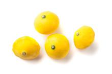 Baby Yellow Squash Group Isola...