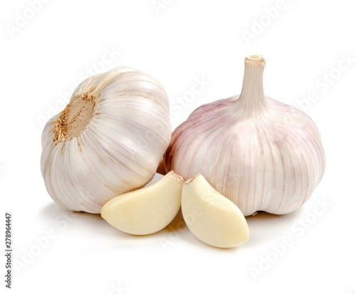 Garlic isolated on white background Canvas Print