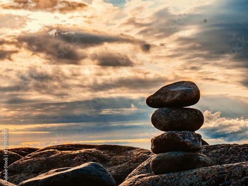 Photo sur Plexiglas Zen pierres a sable stones in water