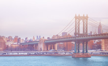 Manhattan Bridge On A Winter D...