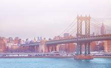Manhattan Bridge On A Winter D...