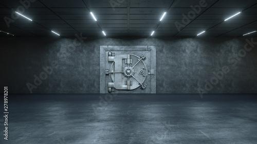 Pinturas sobre lienzo  3d render The Vault Door In Bank