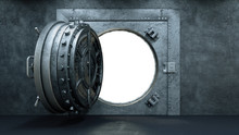 3d Render Opening Of The Vault...