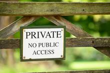 Private No Public Access Sign