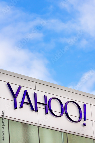 Yahoo Corporate Headquarters Sign - Buy this stock photo and