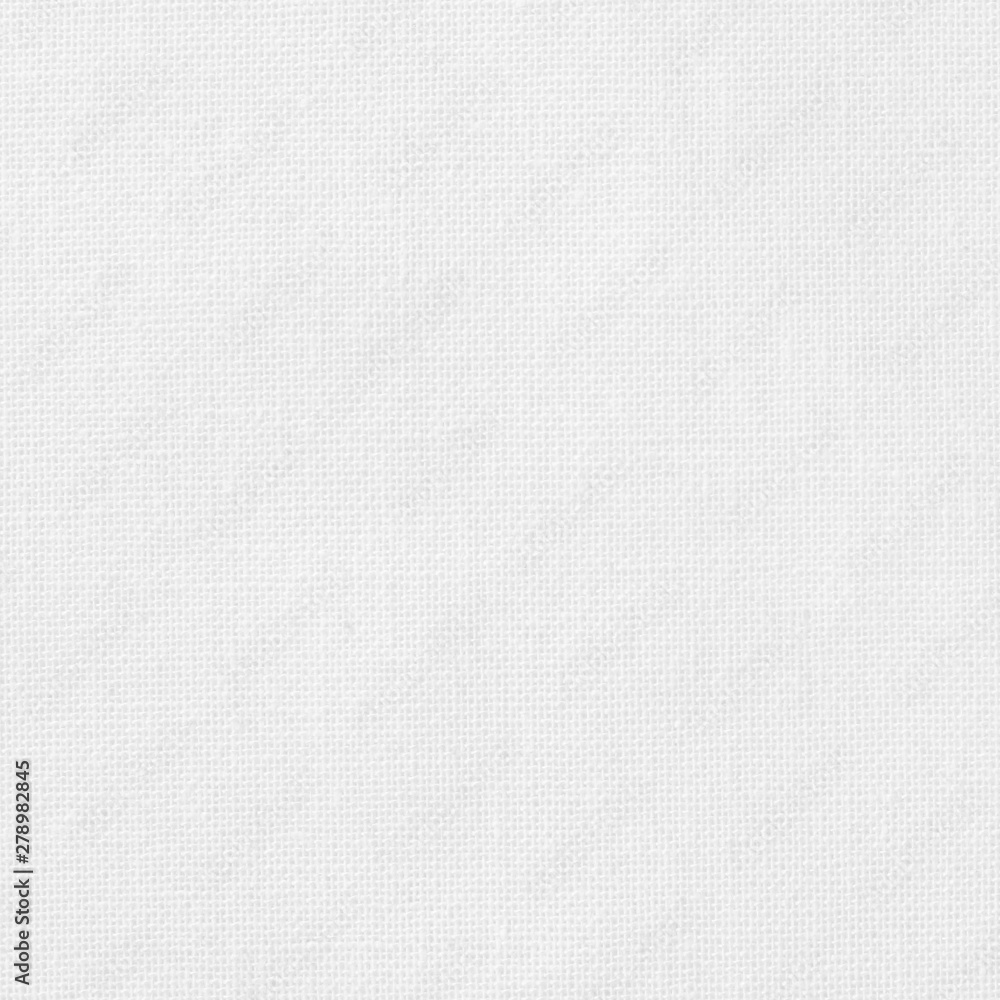 Fototapeta White cotton fabric texture background, seamless pattern of natural textile.