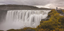 Scenic View Of Dettifoss Waterfall In Iceland