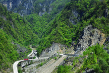 North Korea. Road In Mountains